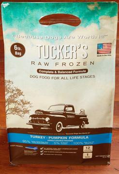 Tucker's Raw Frozen Grain-Free Turkey & Pumpkin Formula Raw Frozen Dog Food, 6-lb