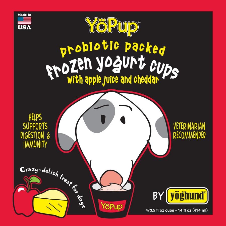 Yoghund Yo Pup Frozen Yogurt Cups Apple Juice & Cheddar Dog Treats, 1-pk
