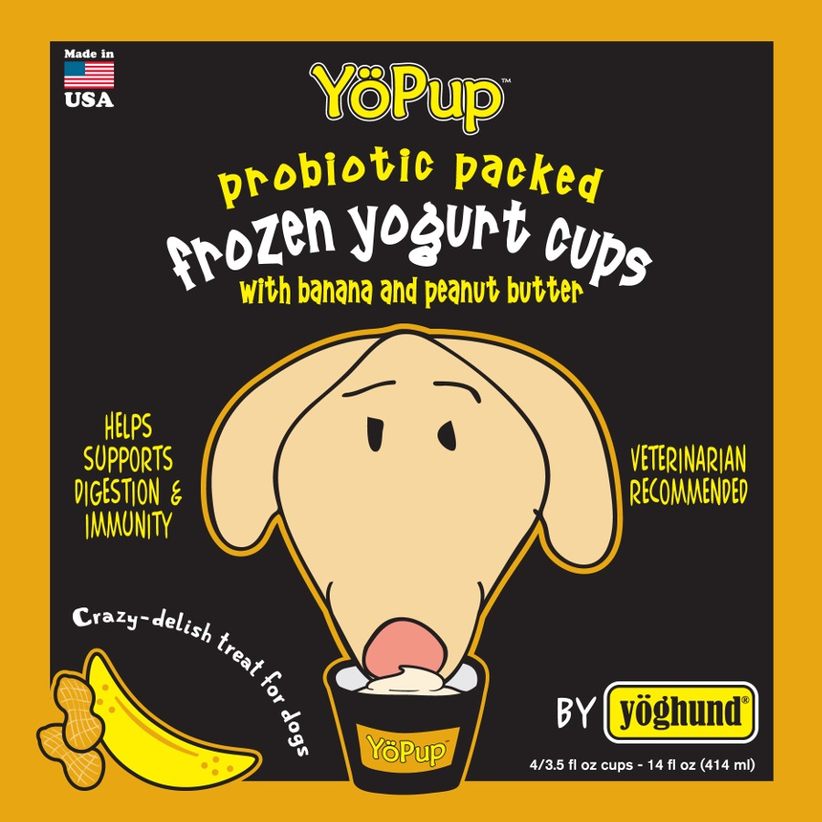 Yoghund Yo Pup Frozen Yogurt Cups Banana & Peanut Butter Dog Treats, 1-pk (Size: 1-pk) Image
