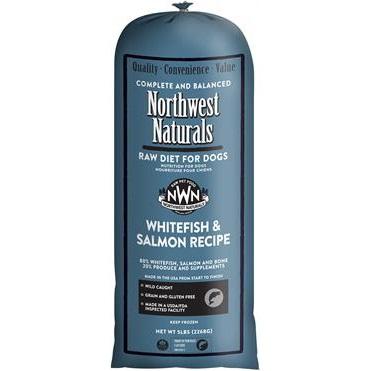 Northwest Naturals Raw Diet Grain-Free Whitefish & Salmon Chub Roll Raw Frozen Dog Food, 5-lb