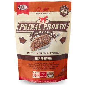 Primal Pronto Raw Beef Formula Raw Frozen Dog Food Image