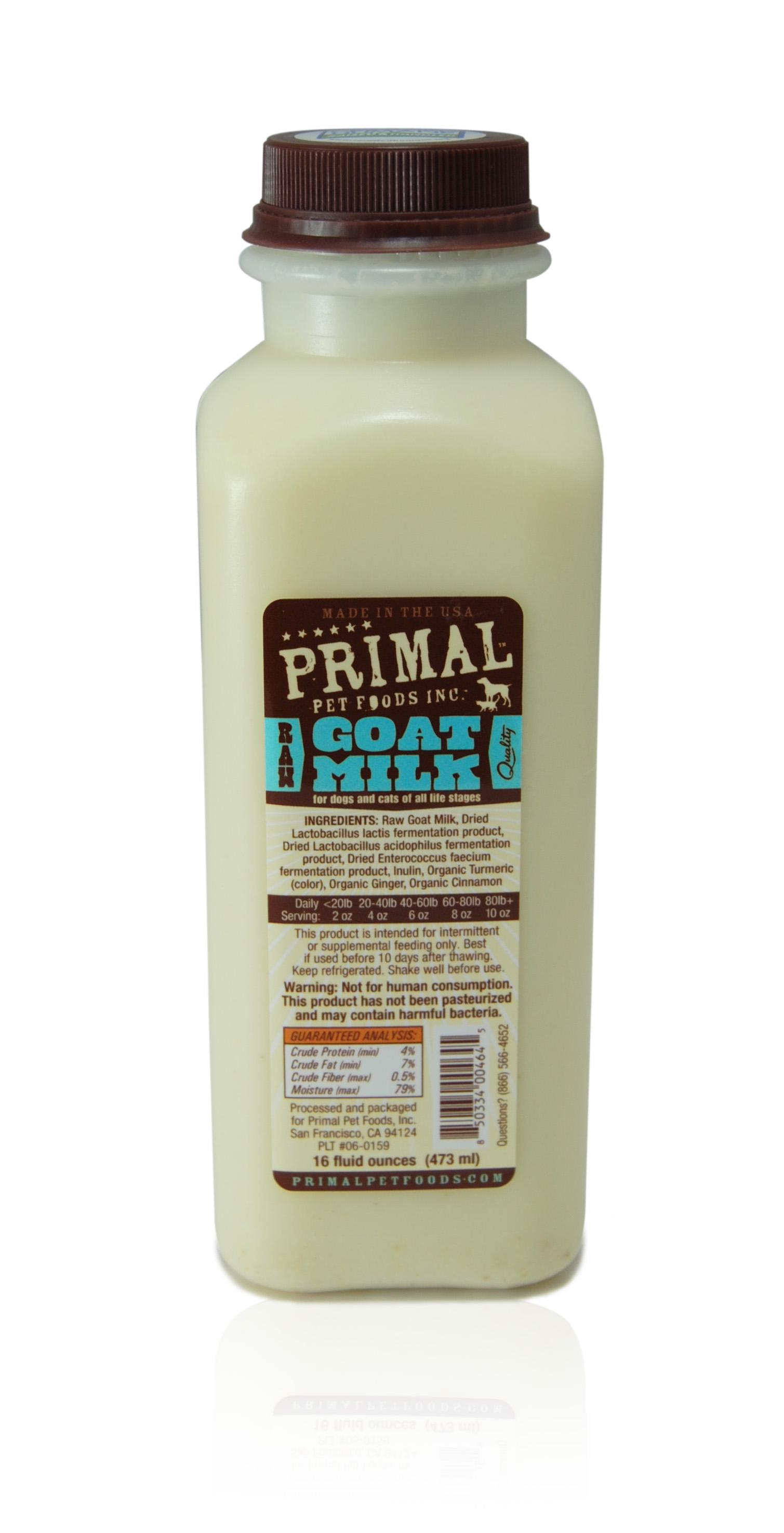 Primal Raw Frozen Goat Milk for Dogs & Cats, 16-oz