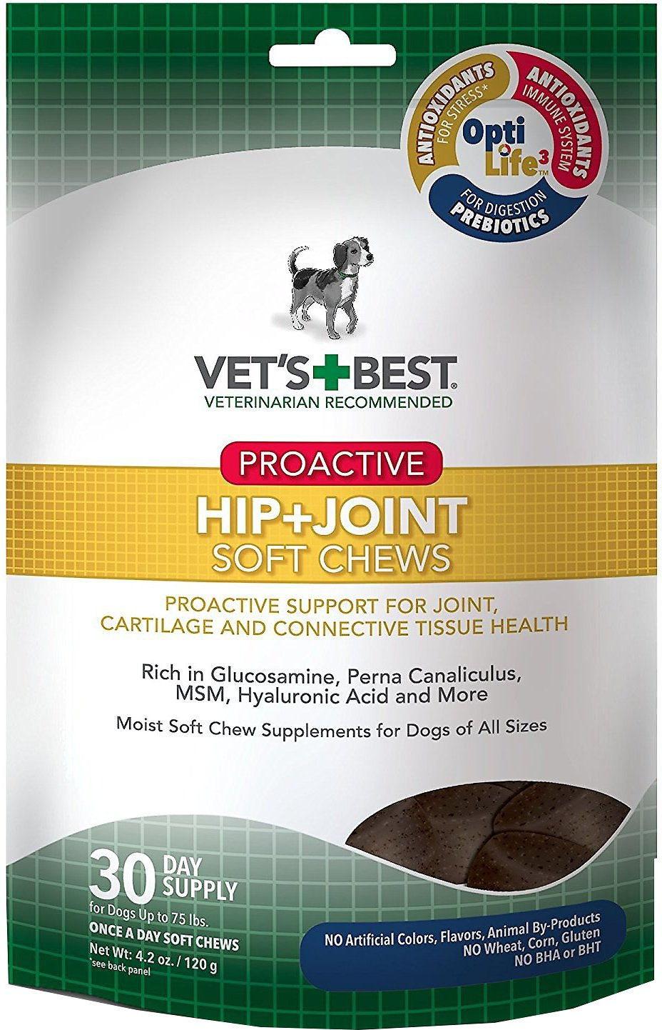 Vet's Best Proactive Hip + Joint Soft Chews Dog Supplement, 30 count