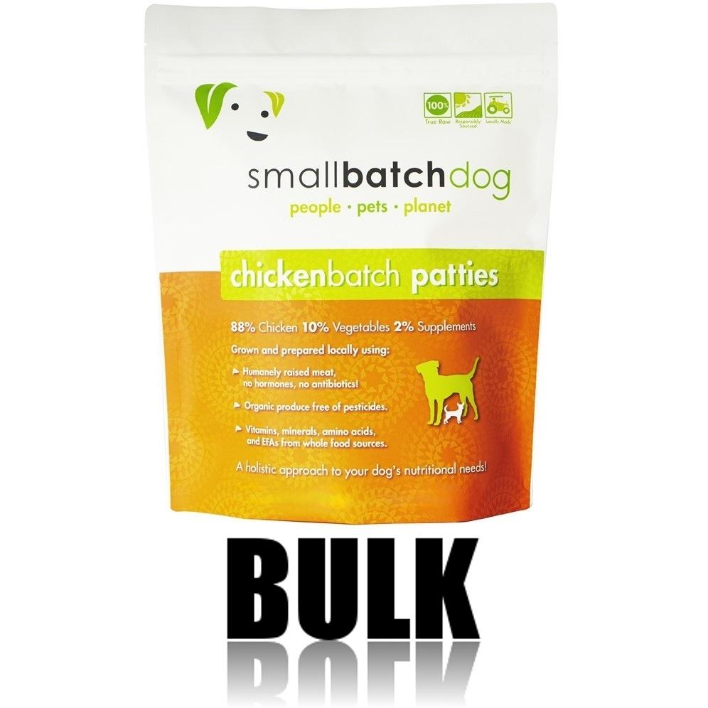 Small Batch Dog Chicken Batch 8-oz Patties Raw Frozen Dog Food, 18-lb bulk