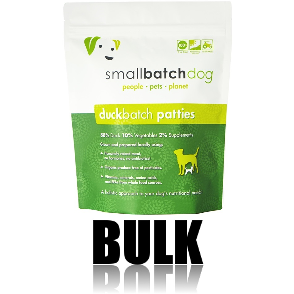 Small Batch Dog Duck Batch 8-oz Patties Raw Frozen Dog Food, 18-lb bulk