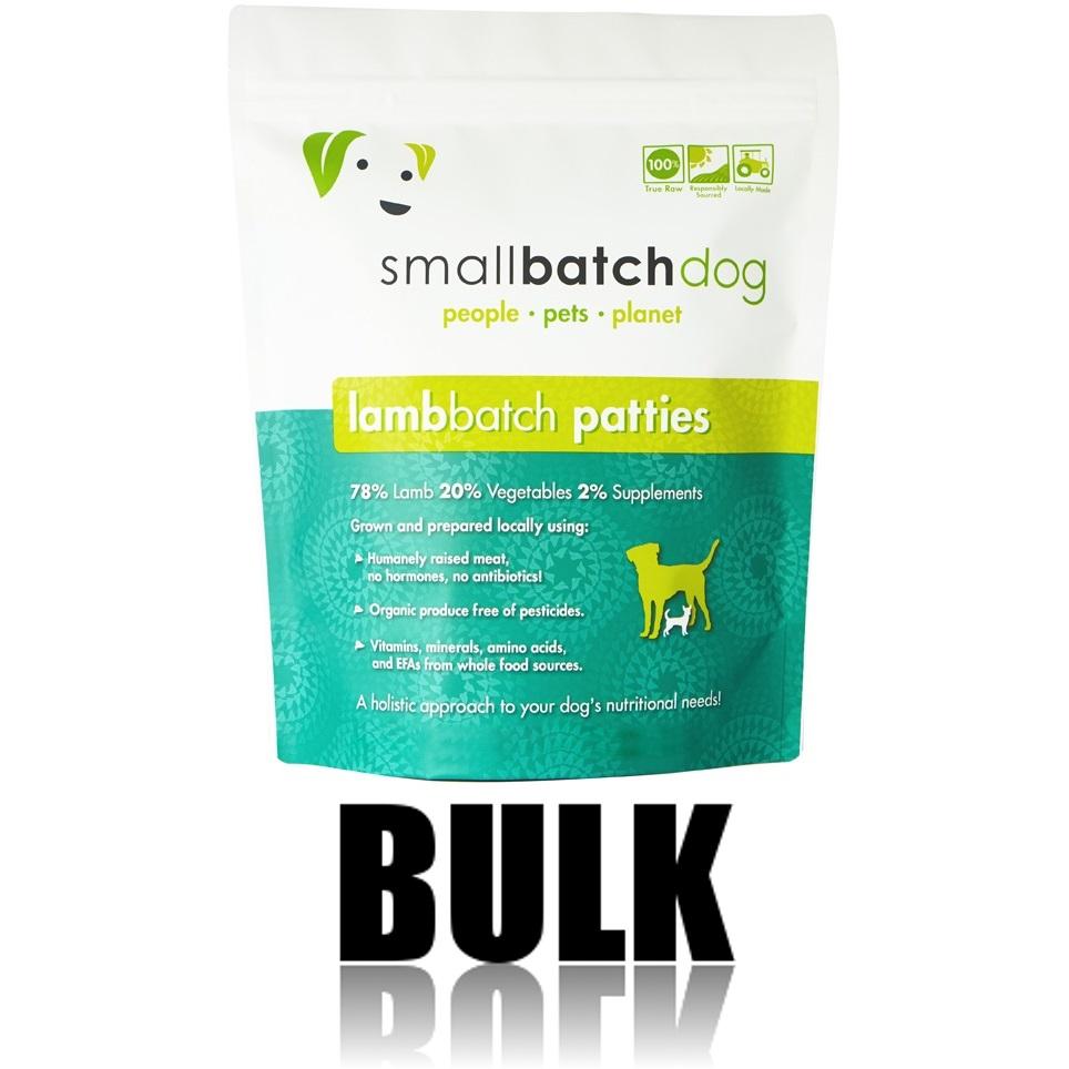 Small Batch Dog Lamb Batch 8-oz Patties Raw Frozen Dog Food, 18-lb bulk