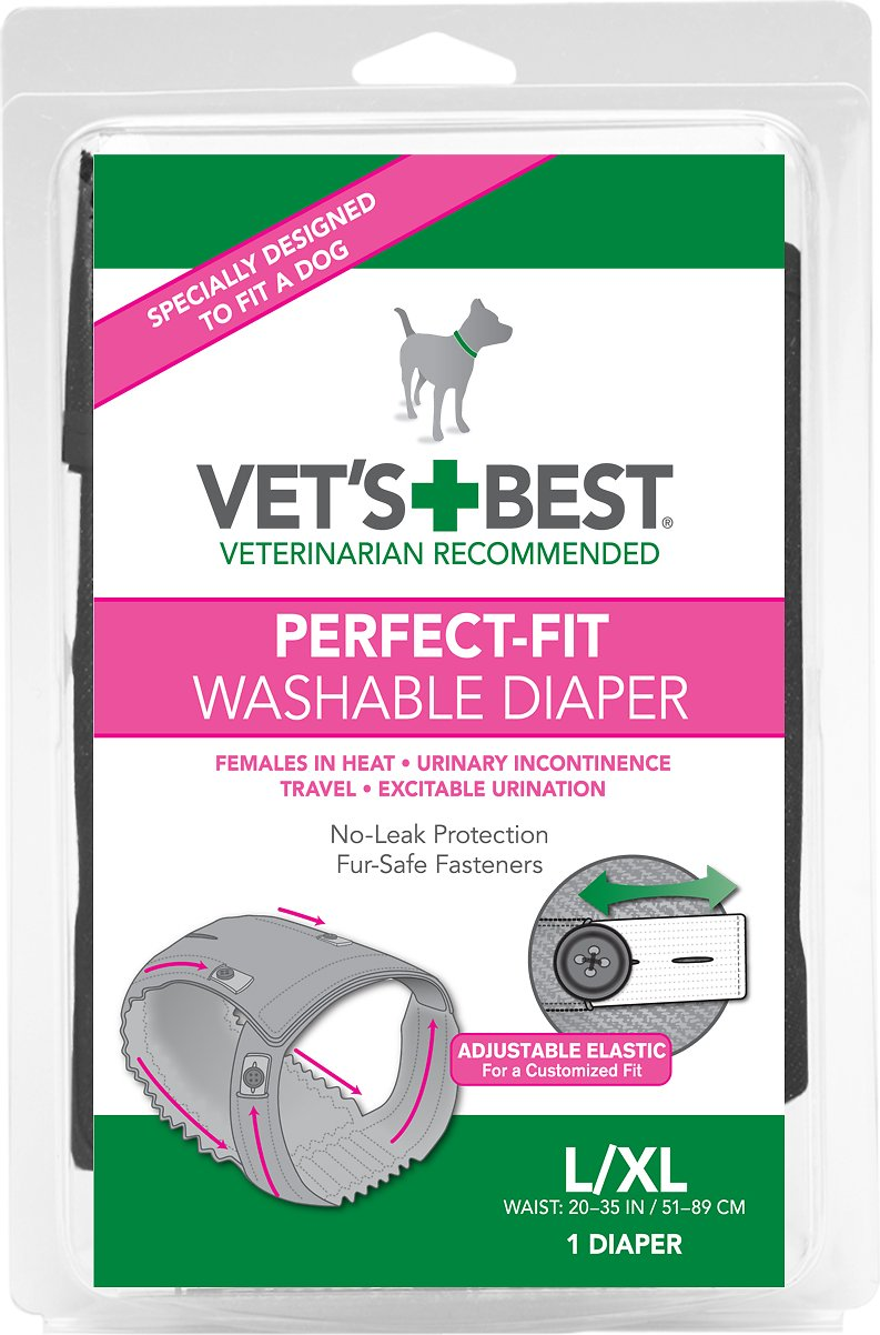 Vet's Best Perfect-Fit Washable Diaper for Female Dogs Image