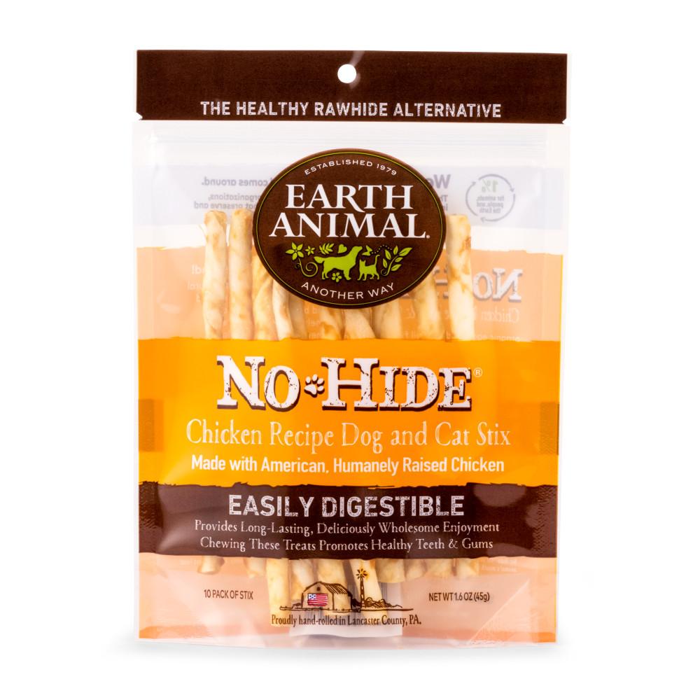 Earth Animal No-Hide Chicken Stix Chew Dog Treat, 10-pk