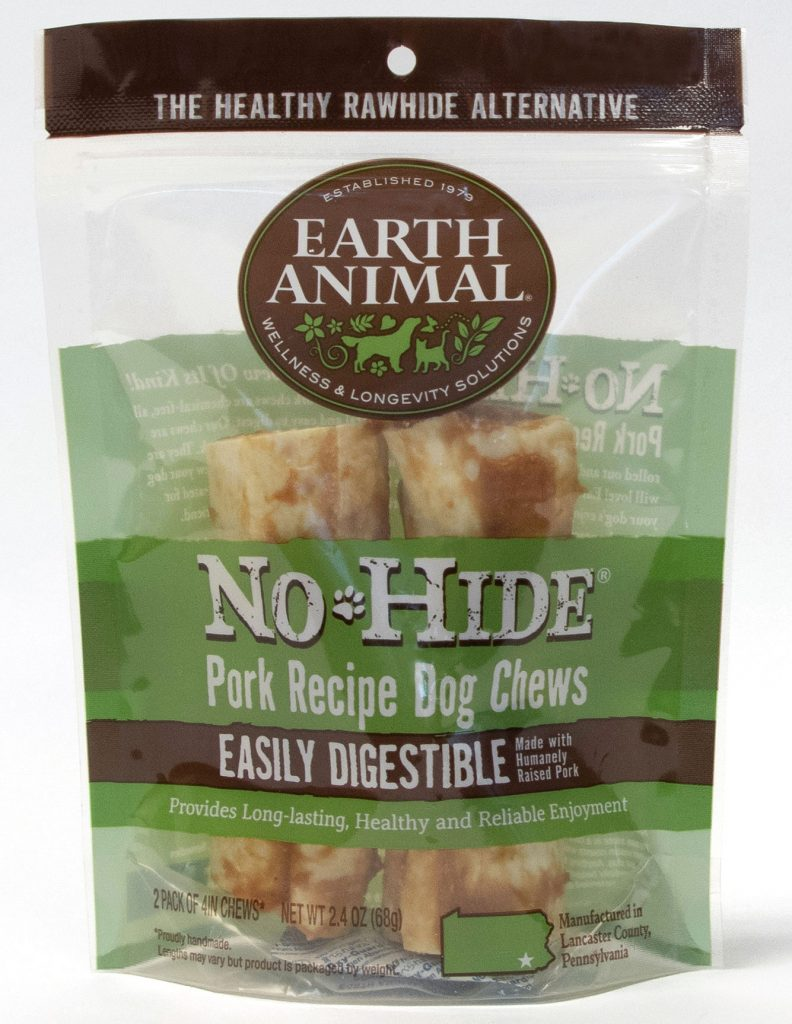 Earth Animal No-Hide Pork Chew Dog Treat, 7-in, 24-count