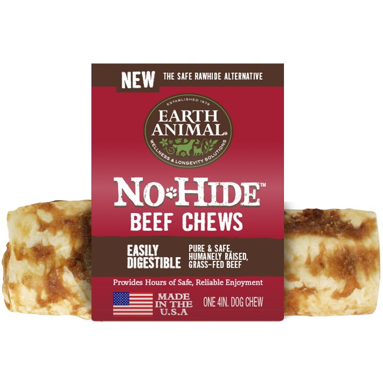 Earth Animal No-Hide Beef Chew Dog Treat, 4-in