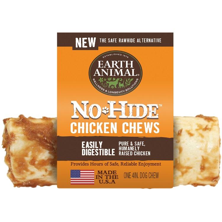 Earth Animal No-Hide Chicken Chew Dog Treat, 4-in