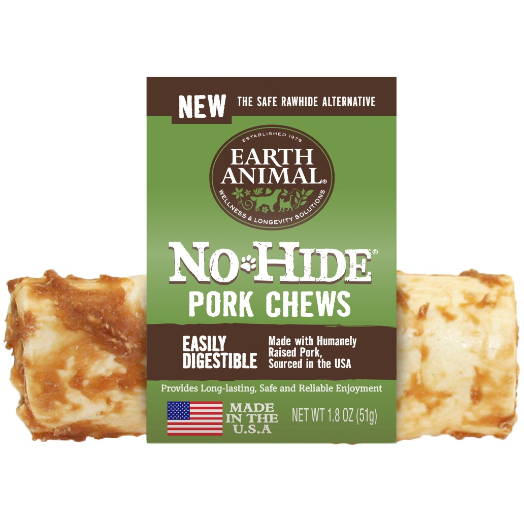 Earth Animal No-Hide Pork Chew Dog Treat, 4-in