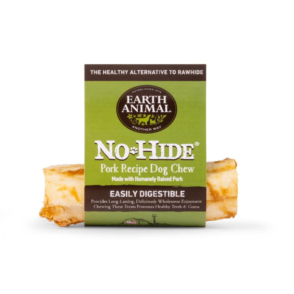 Earth Animal No-Hide Pork Chew Dog Treat, 4-in