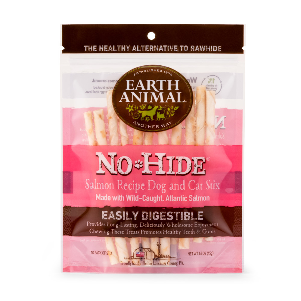 Earth Animal No-Hide Salmon Stix Chew Dog Treat, 10-pk