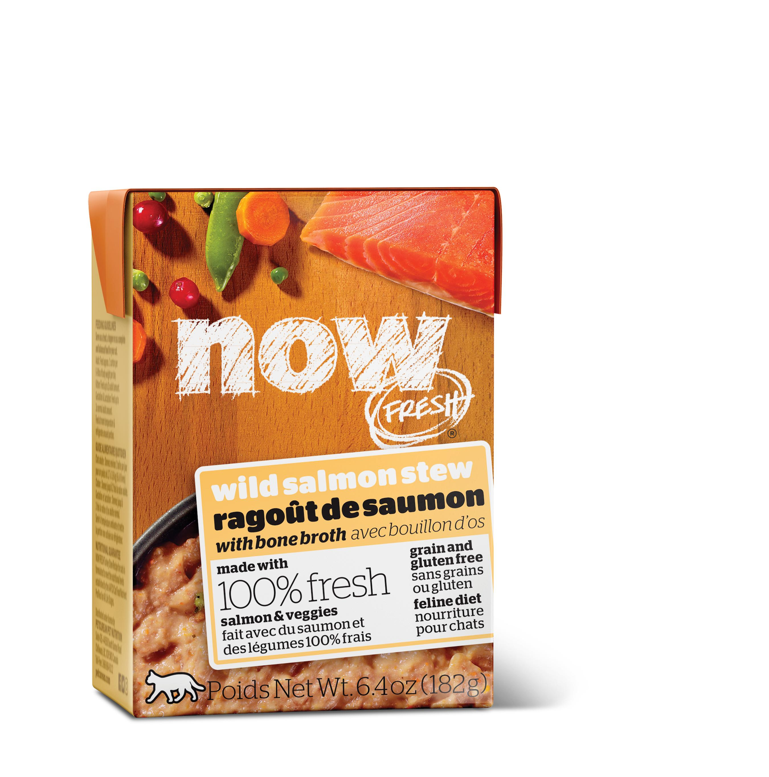 NOW FRESH Wild Salmon Stew Grain-Free Wet Cat Food Image