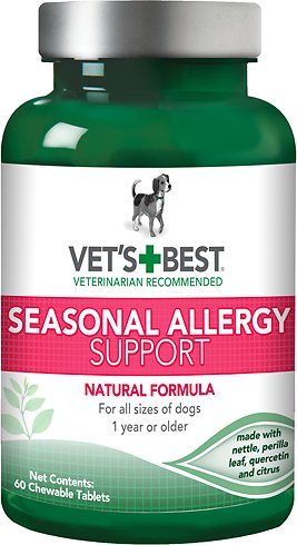 Vet's Best Seasonal Allergy Support Dog Supplement, 60 count