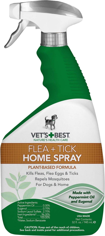 Vet's Best Dog Flea + Tick Home Spray, 32-oz bottle Image