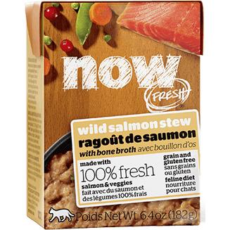 Now Fresh Grain-Free Wild Salmon Stew with Bone Broth Wet Cat Food Image