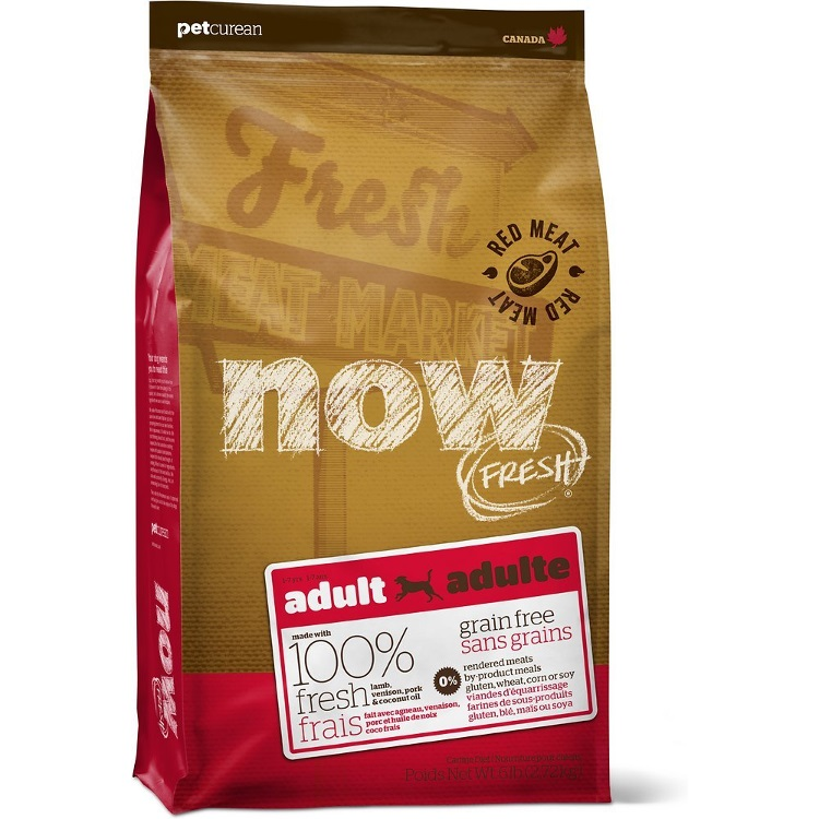NOW FRESH Grain-Free Adult Red Meat Dry Dog Food, 6lbs