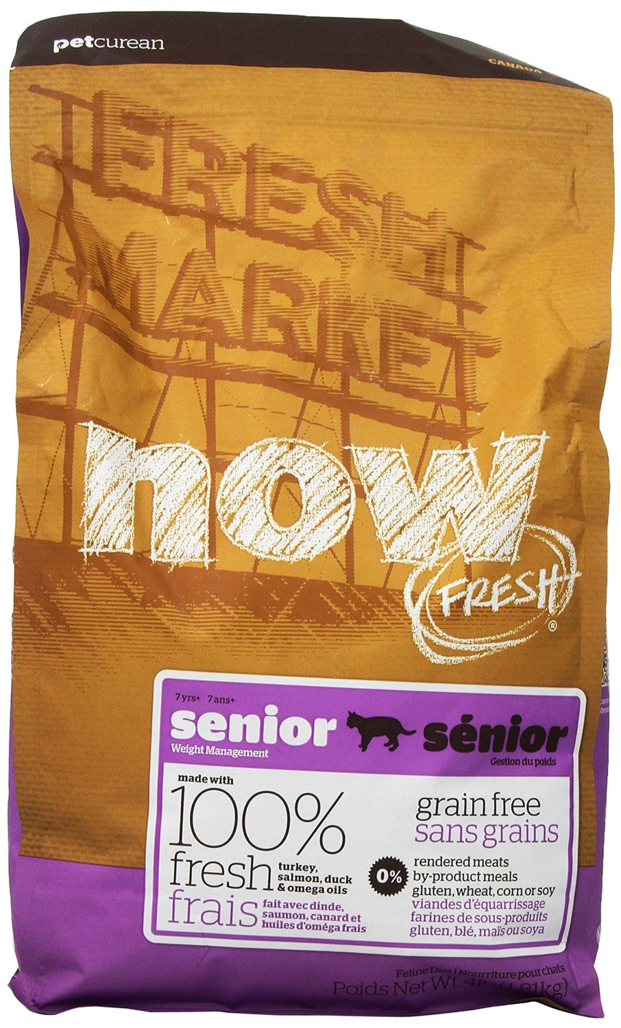 Now Fresh Grain-Free Senior Weight Management Dry Cat Food, 4lbs