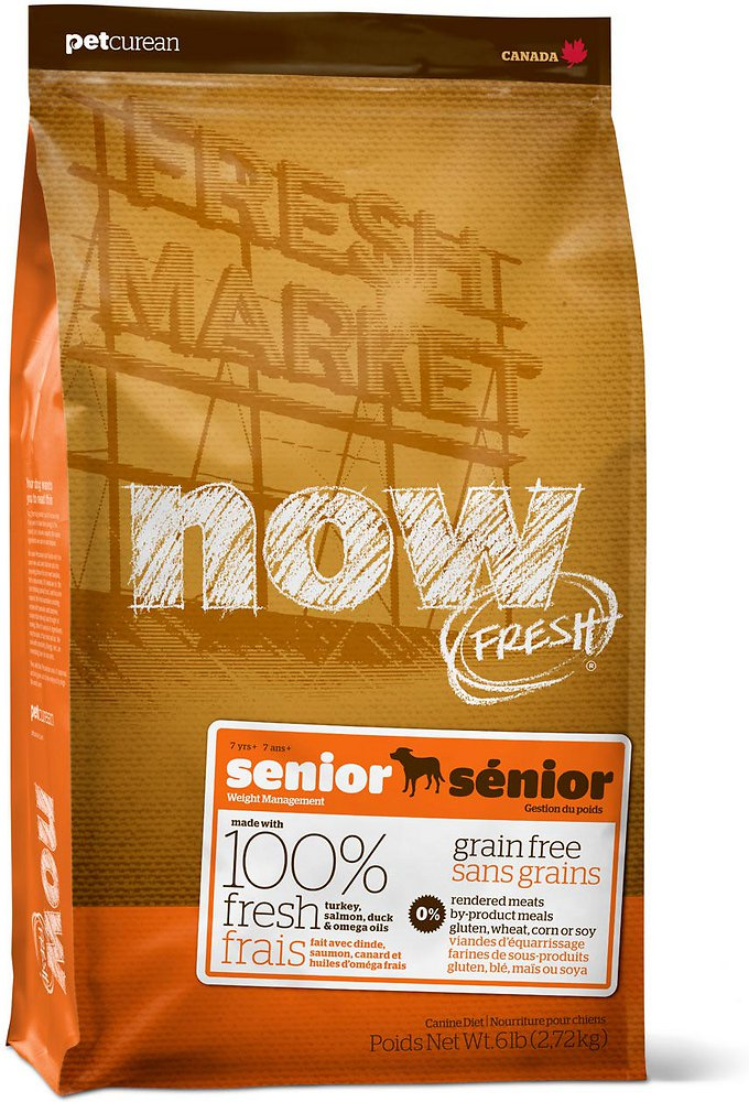 Now Fresh Grain-Free Senior Weight Management Dry Dog Food, 12lbs