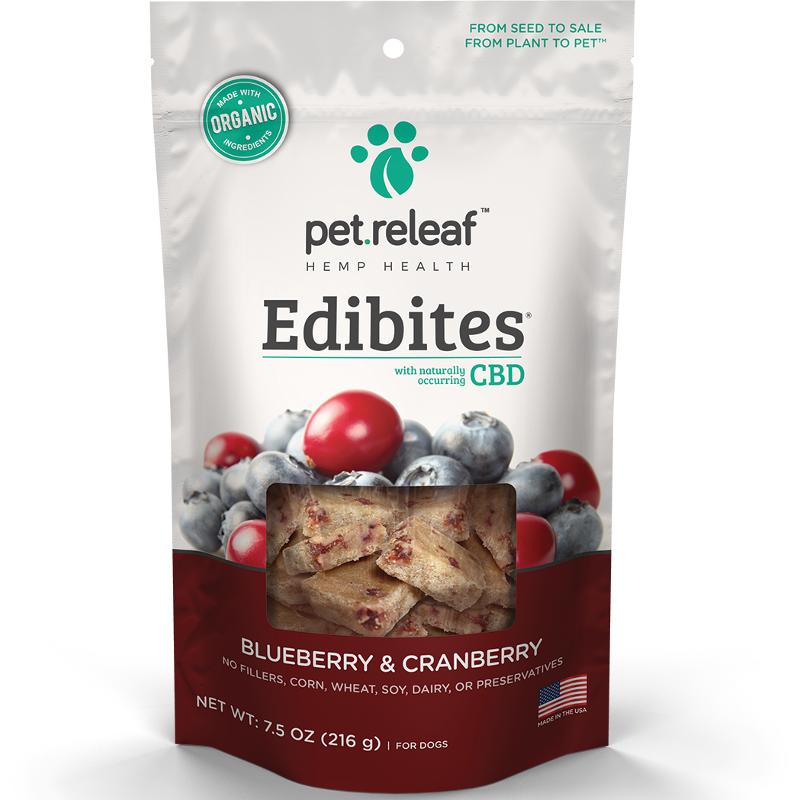 Pet Releaf Edibites Blueberry & Cranberry Dog Treats, 30-count