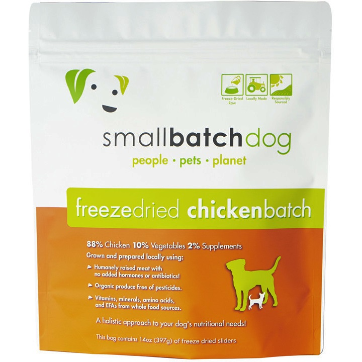 Small Batch Dog Chicken Sliders Freeze-Dried Dog Food, 25-oz
