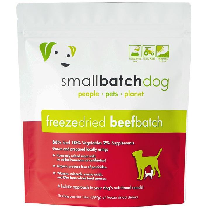 Small Batch Dog Beef Batch Sliders Freeze-Dried Dog Food, 14-oz