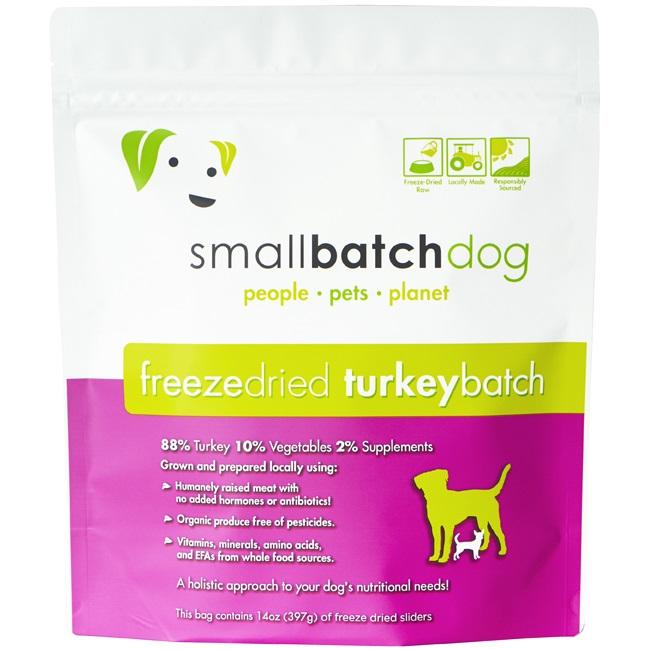 Small Batch Dog Turkey Batch Sliders Freeze-Dried Dog Food, 14-oz