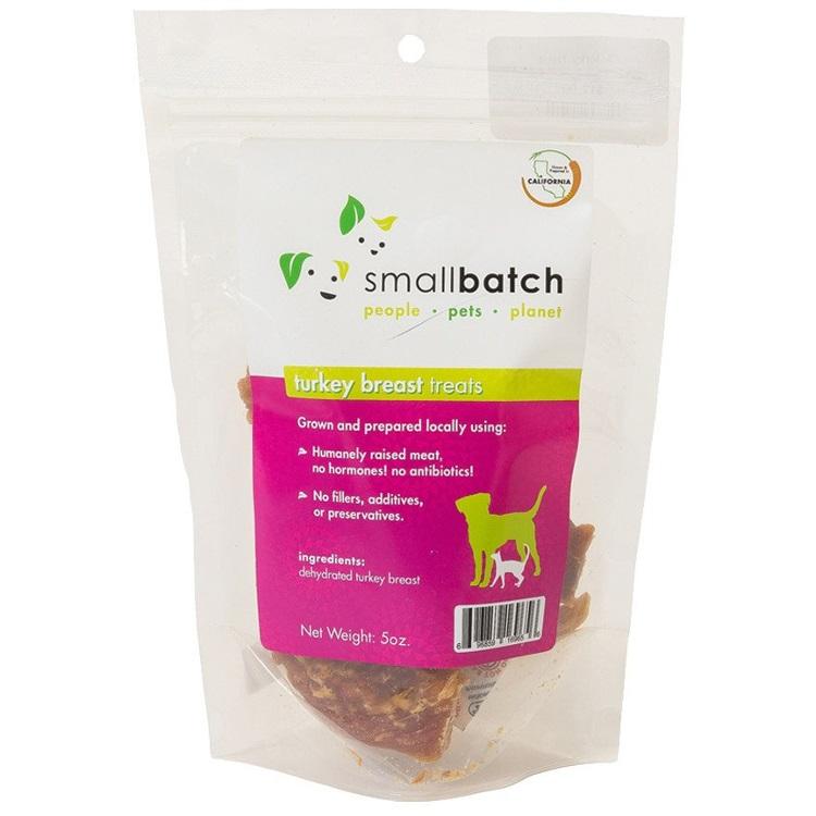Small Batch Treats Turkey Breast Jerky Dog Treats, 5-oz