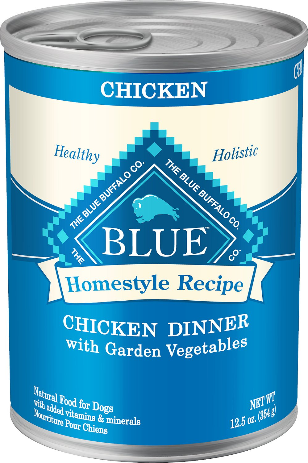 Blue Buffalo Homestyle Recipe Chicken Dinner with Garden Vegetables Grain-Free Canned Dog Food Image