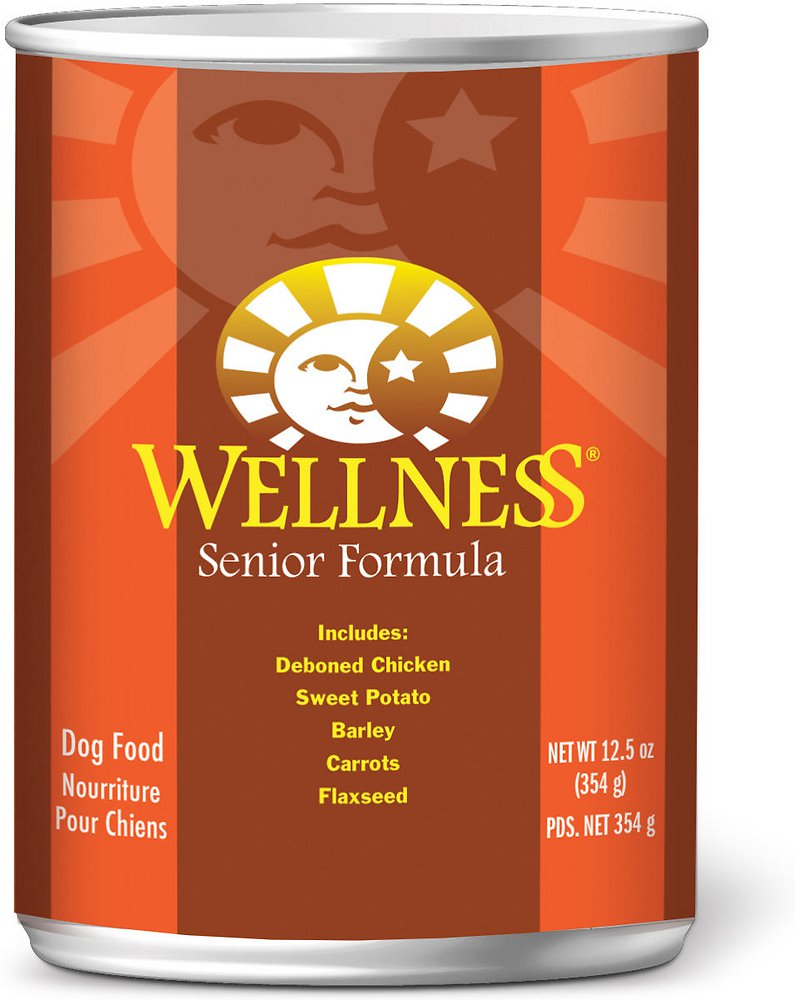 Wellness Complete Health Senior Formula Canned Dog Food, 12.5-oz, case of 12