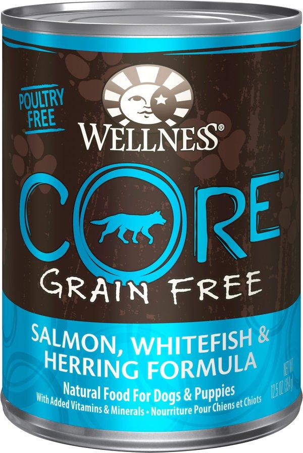 Wellness CORE Grain-Free Whitefish, Salmon & Herring Formula Canned Dog Food Image