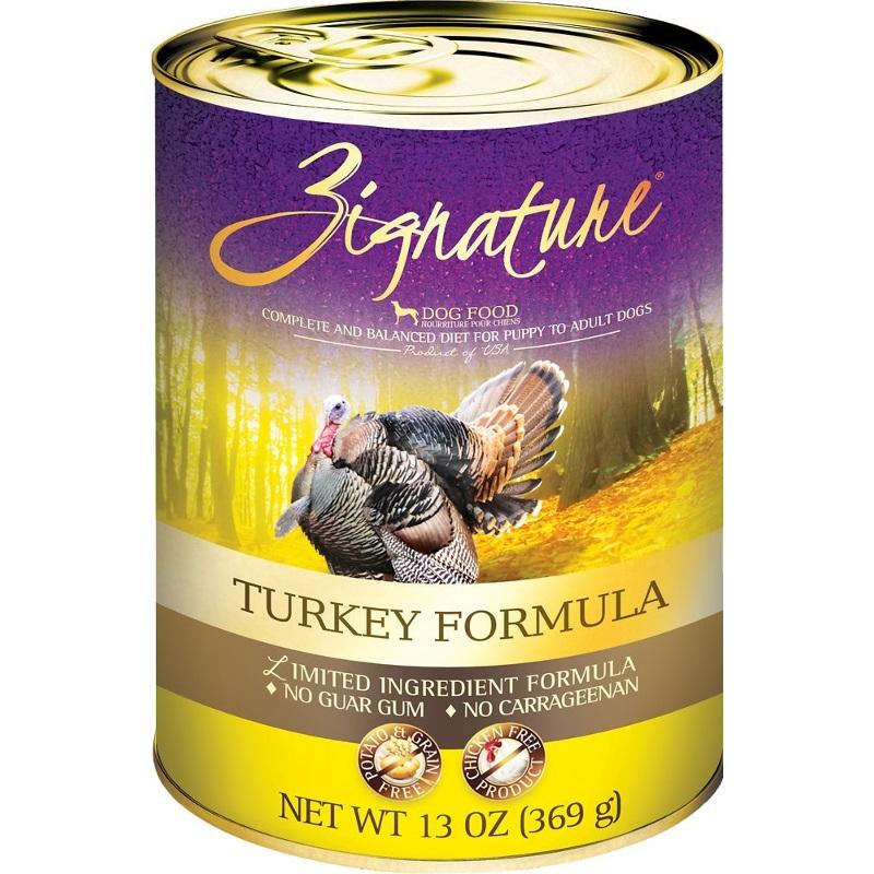 Zignature Turkey Limited Ingredient Formula Grain-Free Canned Dog Food, 13-oz, case of 12