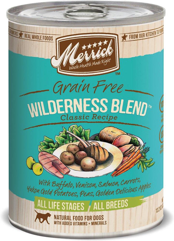 Merrick Grain-Free Wilderness Blend Canned Dog Food, 12.7-oz, case of 12