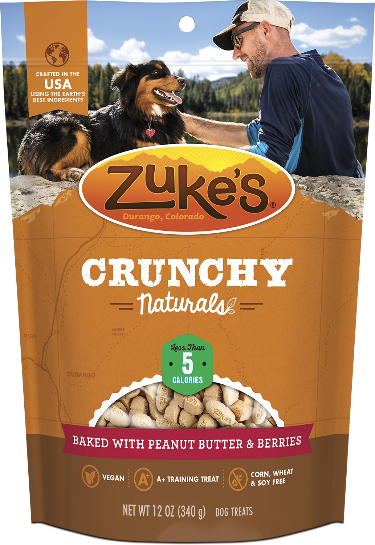 Zuke's Crunchy Naturals 5s Baked With Peanut Butter & Berries Dog Treats, 12-oz bag