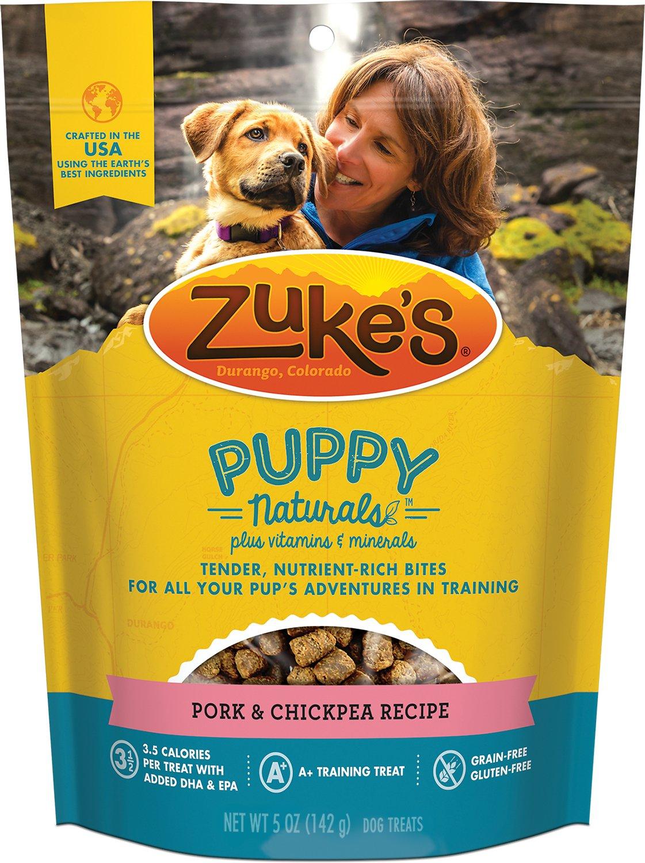 Zuke's Puppy Naturals Pork & Chickpea Recipe Dog Treats, 5-oz bag (Weights: 5ounces) Image