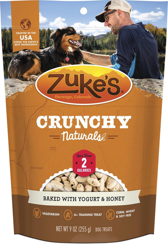 Zuke's Crunchy Naturals 2s Baked With Yogurt & Honey Dog Treats, 9-oz bag