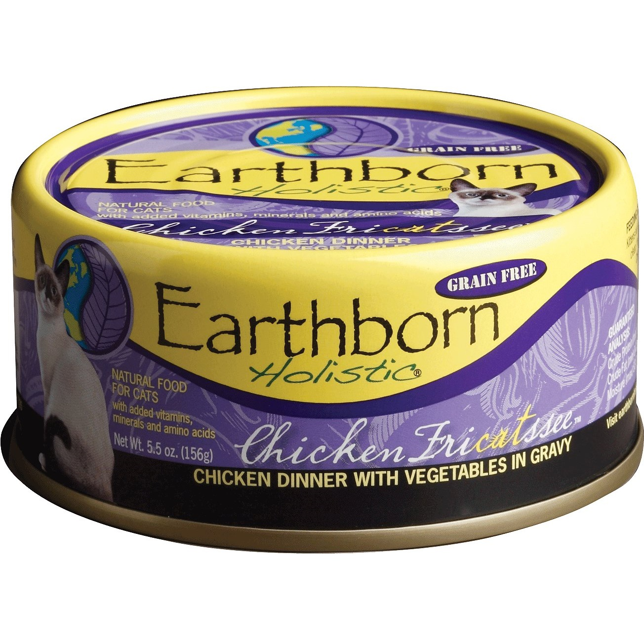Earthborn Holistic Chicken Fricatssee Grain-Free Natural Canned Cat & Kitten Food, 5.5-oz, case of 24
