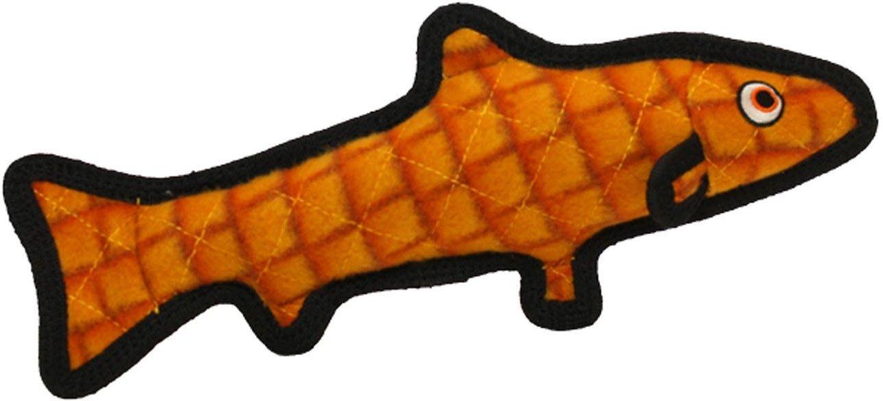 Tuffy's Ocean Creatures Trout Dog Toy, Orange