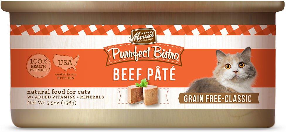 Merrick Purrfect Bistro Grain-Free Chicken Casserole Morsels in Gravy Canned Cat Food, 5.5-oz, case of 24