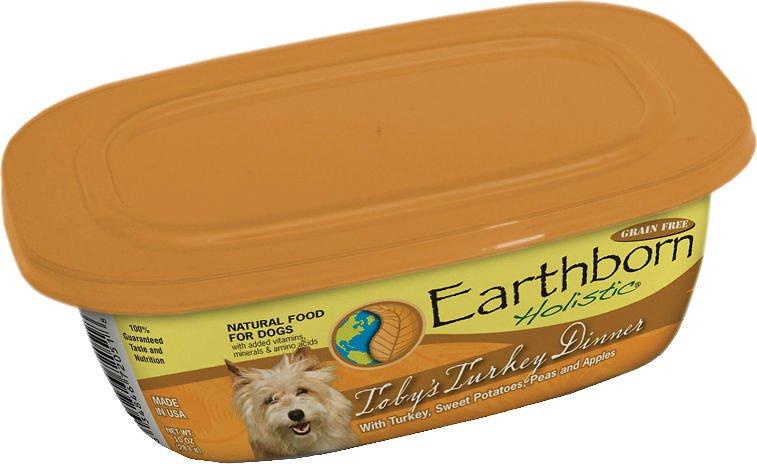 Earthborn Holistic Toby's Turkey Dinner Grain-Free Natural Moist Dog Food, 8-oz, case of 8