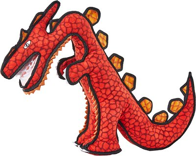 Tuffy's Dinosaur Destructosaurus Dog Toy, Regular