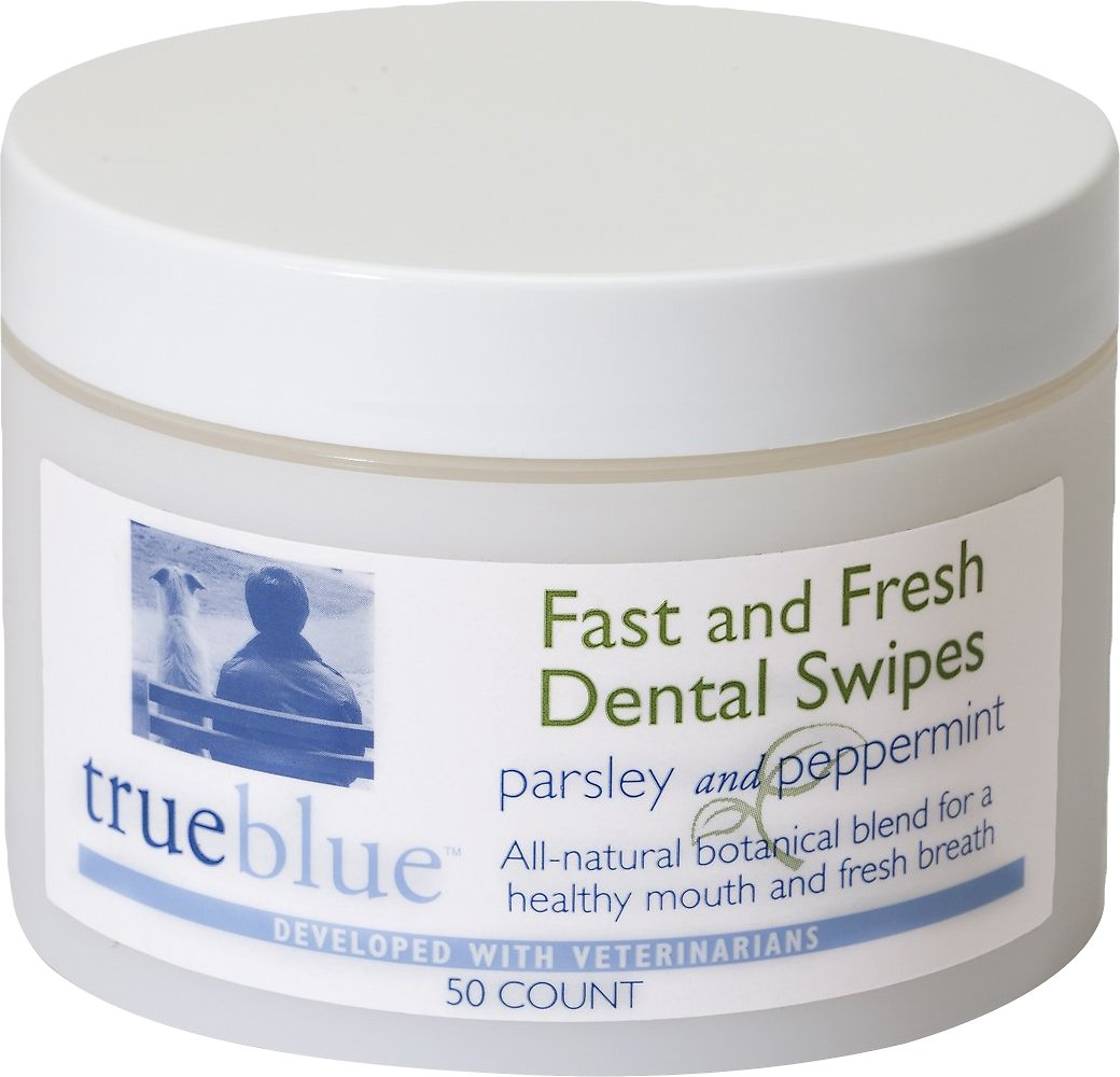 TrueBlue Pet Products Fast & Fresh Dog Dental Swipes, 50-count