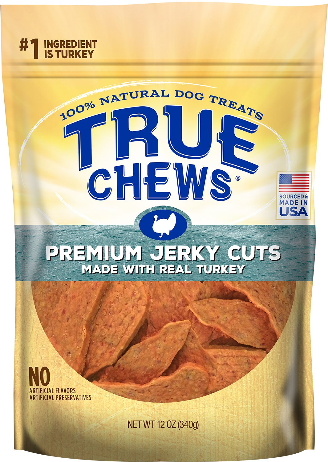 True Chews Premium Jerky Cuts with Real Turkey Dog Treats, 12-oz bag (Weights: 12 ounces) Image