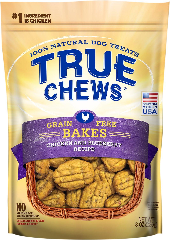 True Chews Chicken & Blueberry Grain-Free Bakes Dog Treats, 8-oz bag