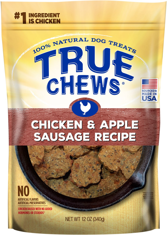 True Chews Chicken & Apple Sausage Recipe Dog Treats, 12-oz bag