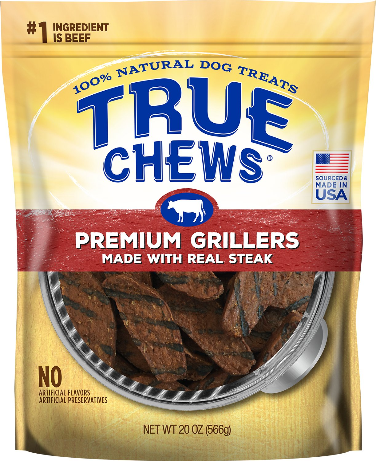 True Chews Premium Grillers with Real Steak Dog Treats Image
