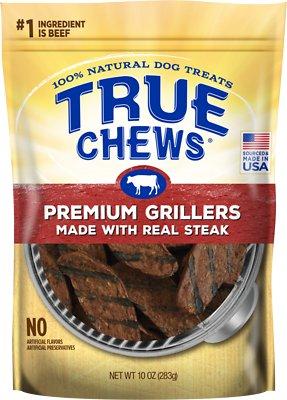True Chews Premium Grillers with Real Steak Dog Treats, 10-oz