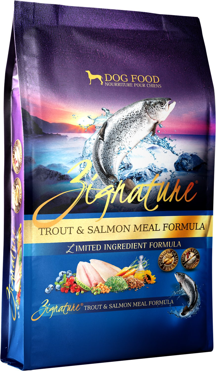 Zignature Trout & Salmon Meal Limited Ingredient Formula Grain-Free Dry Dog Food Image